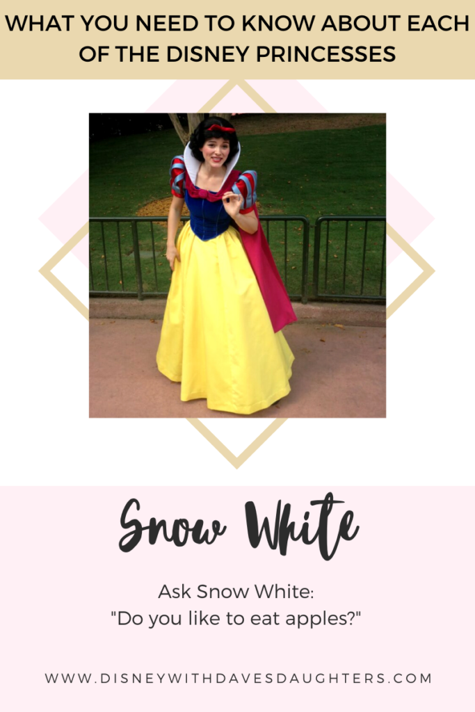 What to ask Snow White when you meet her at Disney World!
