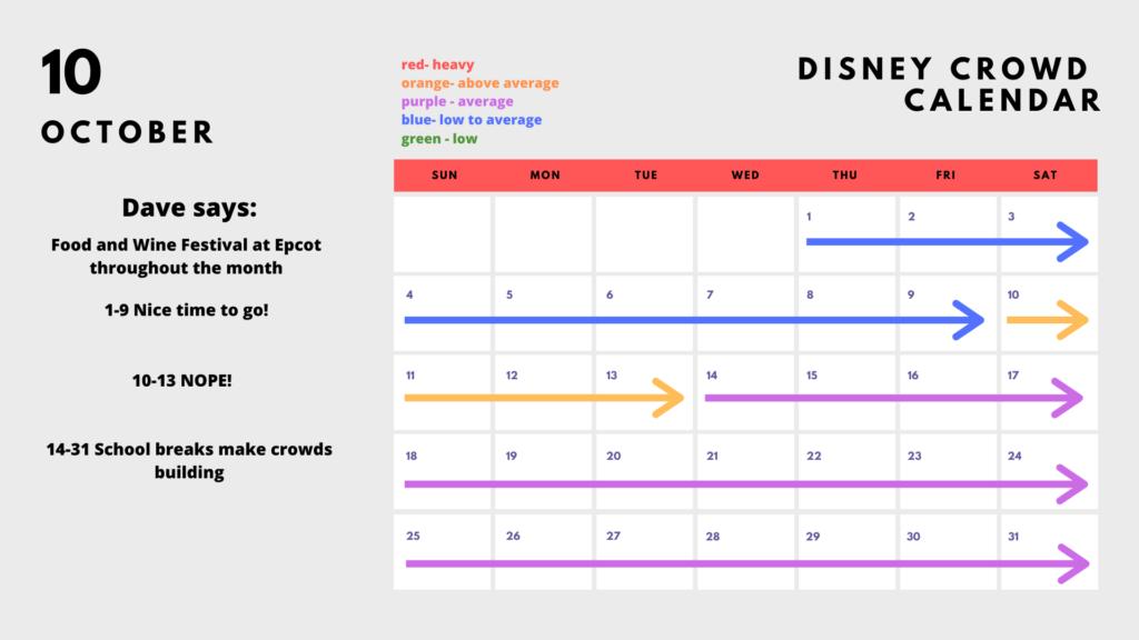 2020 Disney Park Calendar - October