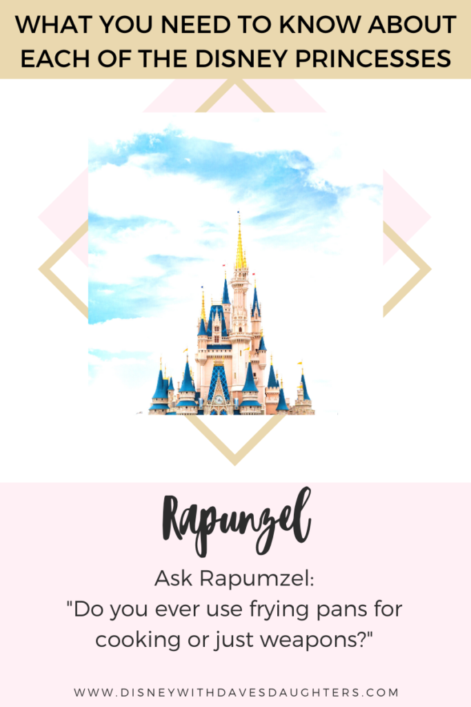 What to ask Rapunzel when you meet her at Disney World!