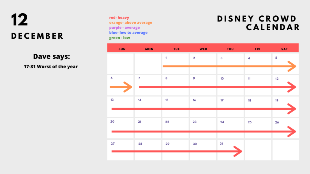 2020 Disney Park Calendar - December