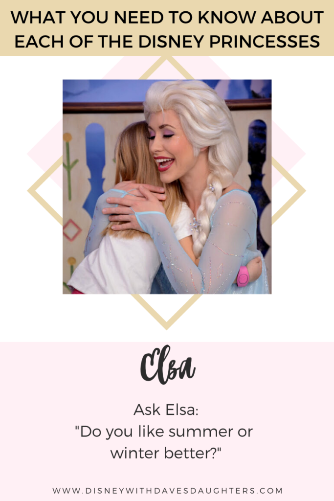 What to ask Elsa when you meet her at Disney World!