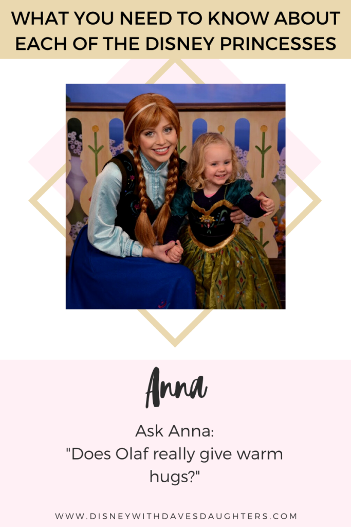 What to ask Anna when you meet her at Disney World!