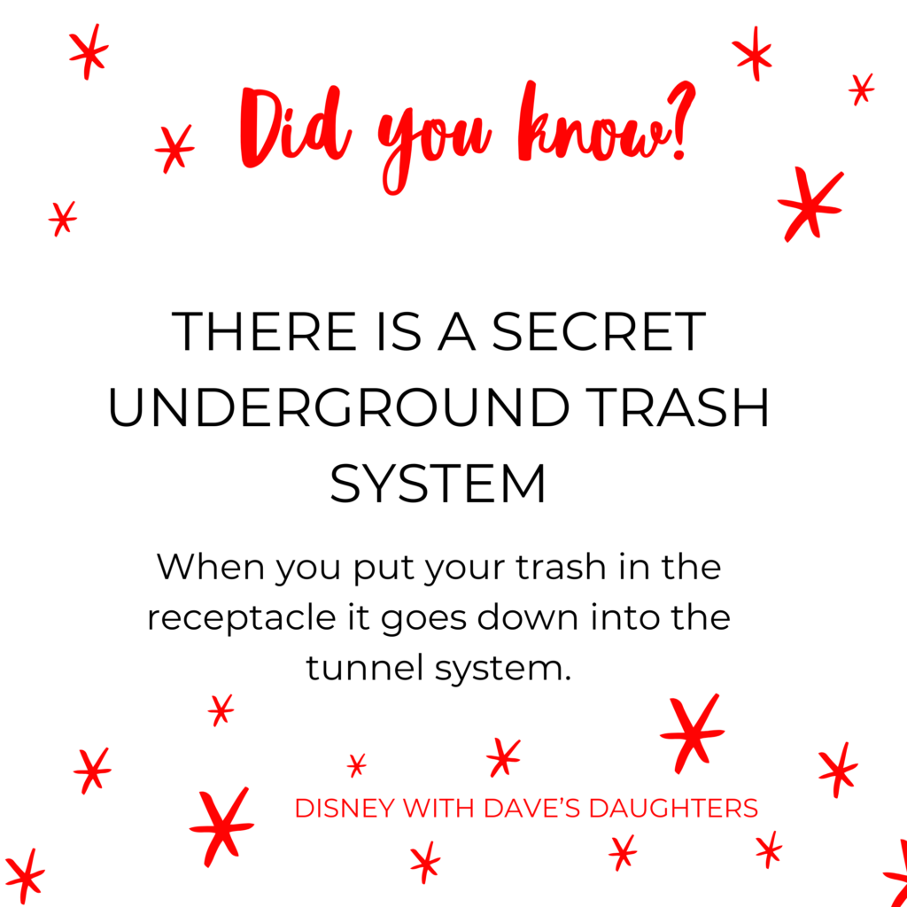 There is a secret underground trash system! #funfactsaboutdisney Click through for 4 more fun facts about disney world!
