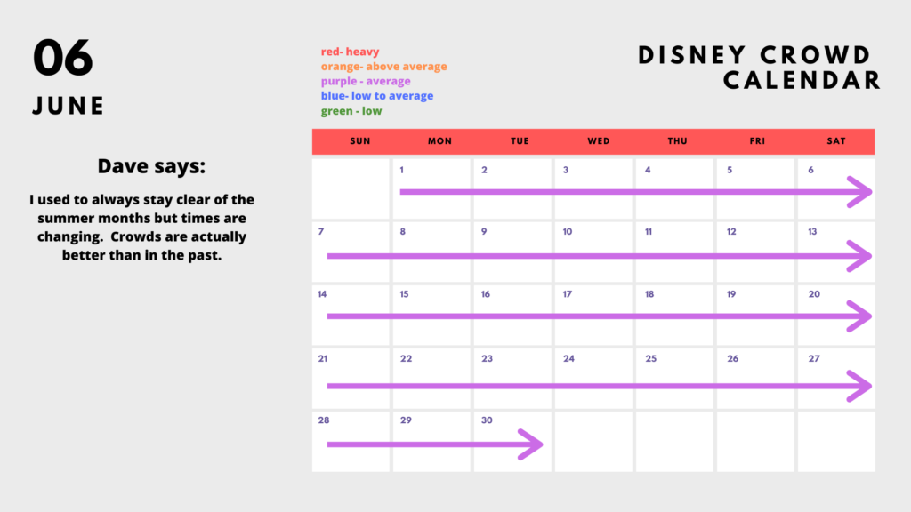Planning your 2020 Disney World vacation? Check out our Crowd Calendar for June!