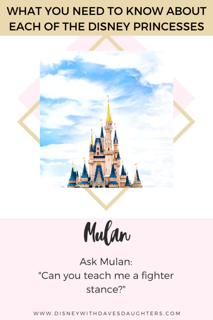What to ask Mulan when you meet her at Disney World!