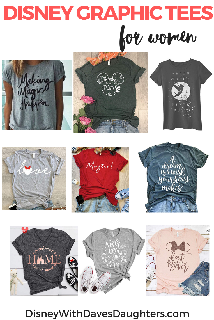 9 Disney Graphic Tees for Women