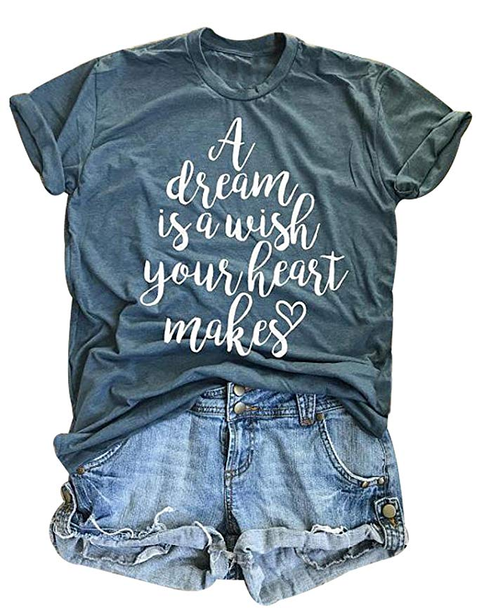 A dream is a wish your heart makes disney graphic tee
