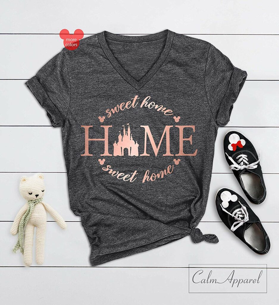 home sweet home disney castle graphic tee