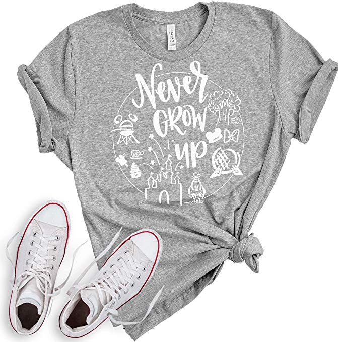 Never grow up disney graphic tee