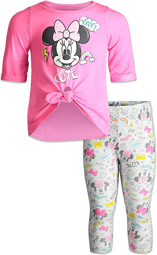 Minnie Mouse Peplum Top + Leggings