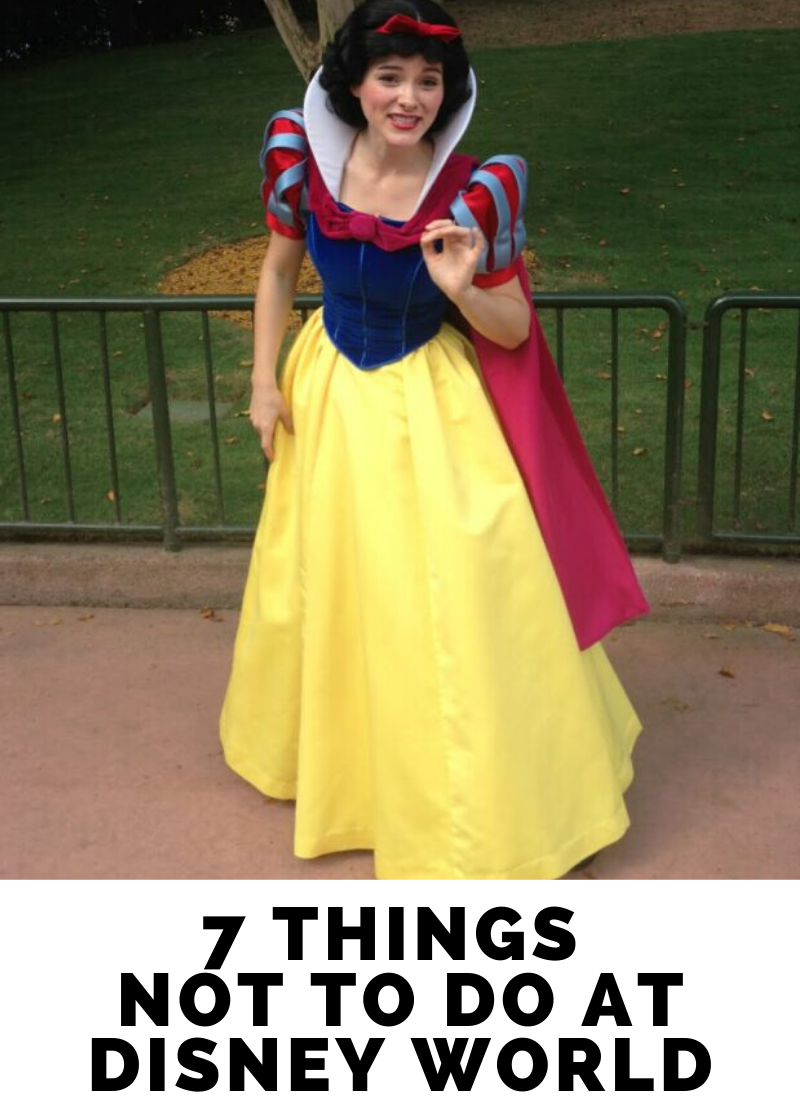 7 Things Not To Do At Disney World