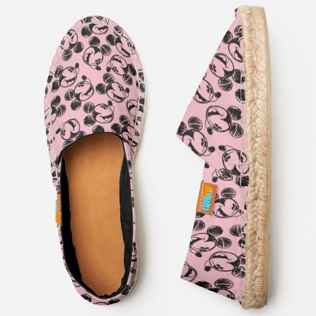 Shoe your Disney pride with these fun Pink Mickey Espadrilles