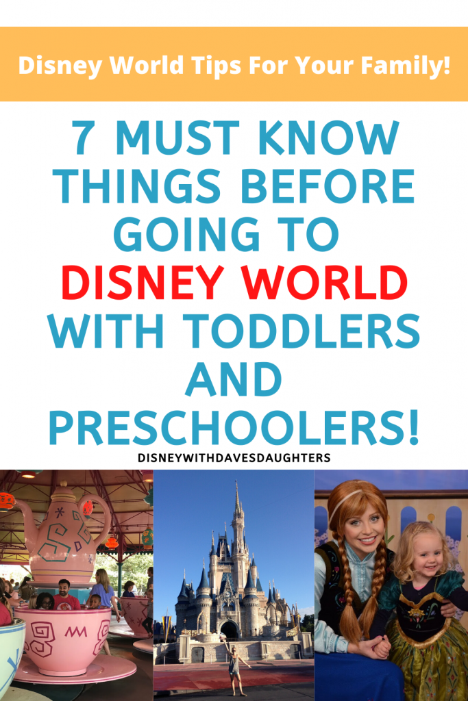 7 must know things before going to Disney World with toddlers and preschoolers!