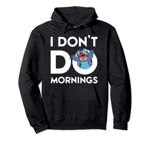 I Don't Do Mornings Lilo and Stitch Sweatshirt from Amazon