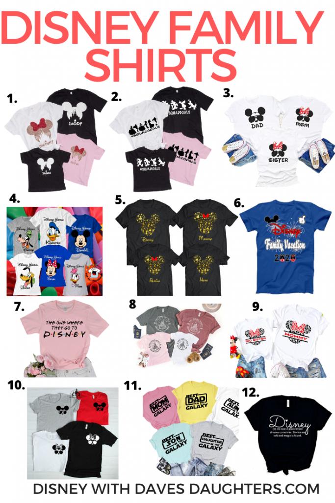 12 Unique Disney Family Shirts