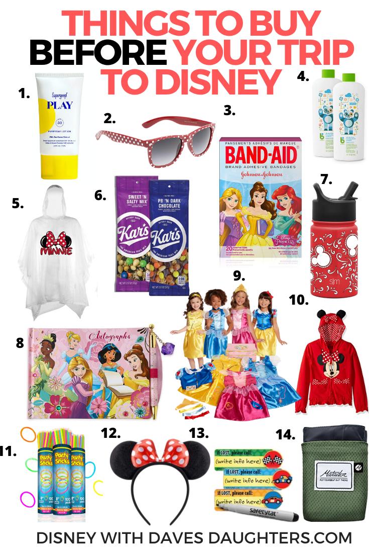 14 Disney Essentials to Buy BEFORE You Go To Disney