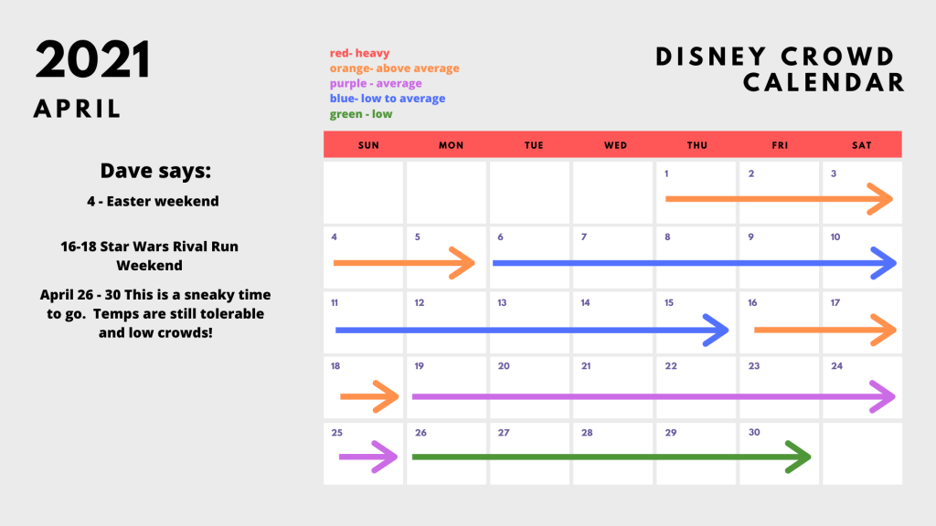 Busch Gardens Tampa Crowd Calendar 2022.2021 2022 Disney World Crowd Calendar Best Worst Times To Go Disney With Dave S Daughters