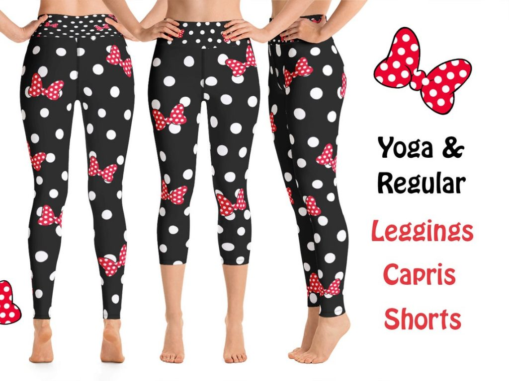 Minnie Mouse Bow leggings